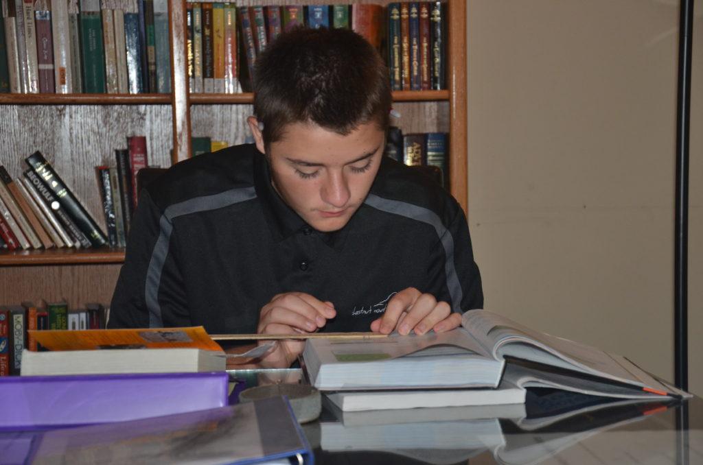 boy, study, school, Chestnut Mountain Ranch
